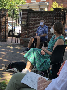 1st in-person worship post-covid July 4, 2021
