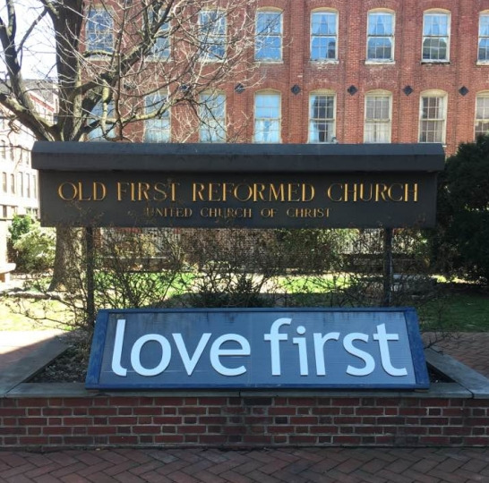 """Our """"Love First"""" Sign"""