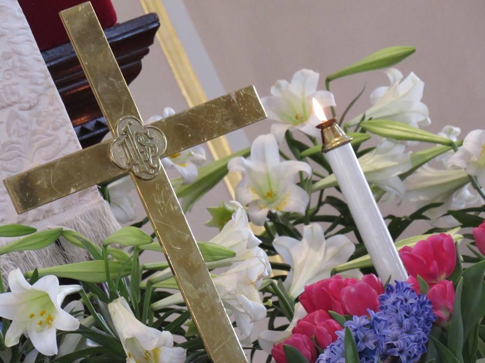 Dedicating Flowers for Easter