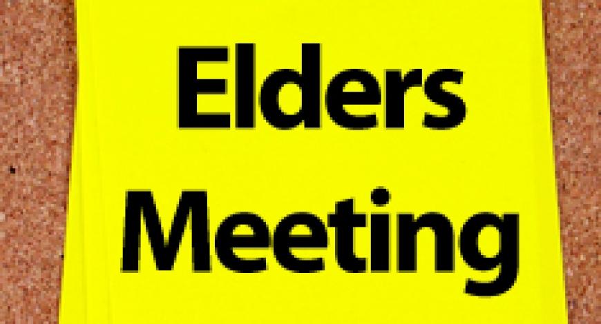 Elder's Corner: Highlights from their Mar. 2018 Meeting