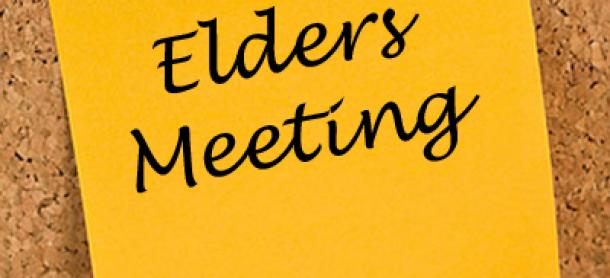 Elder'sCorner – Meeting Notes from May 14th, 2018