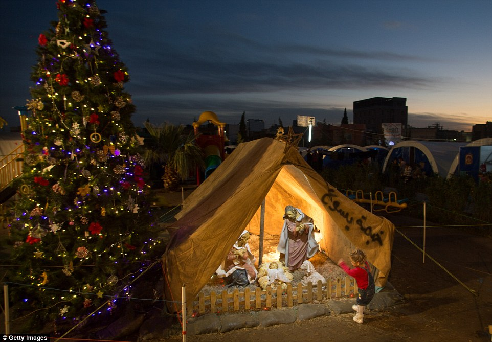 Refugee Nativity Replaces Live-Animal Creche This Year