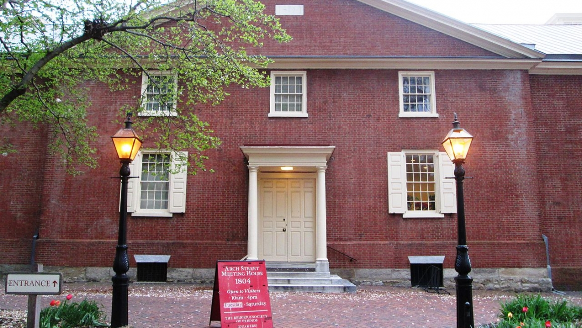 Parking at the Arch Street Meeting House- Christmas Eve