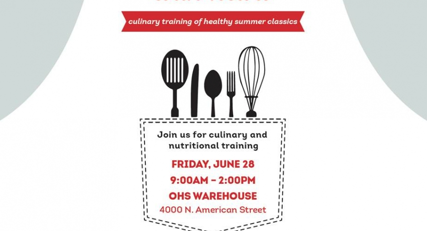 """Cooking with Heart"" – Summer Cooking and Nutrition Training"