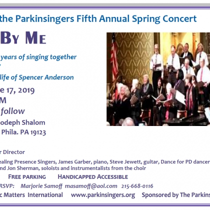 Parkinsingers 5th Annual Spring Concert, June 17, 5:30p-6:30p