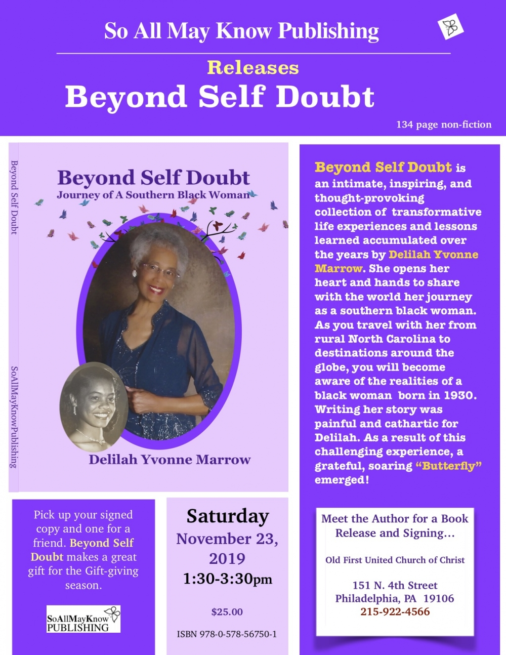 Book Release and Signing: Beyond Self Doubt by Delilah Marrow