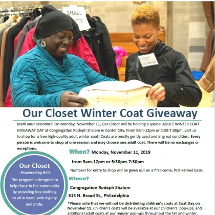 Winter Coat Giveaway with Our Closet